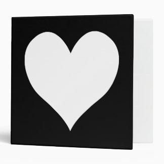 Black and White Heart Vinyl Binders
