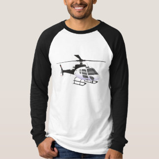 Black and white helicopter T-shirt