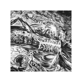 Black and White Hell Canvas Print