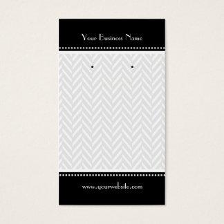 Black and White Herringbone Earring Cards
