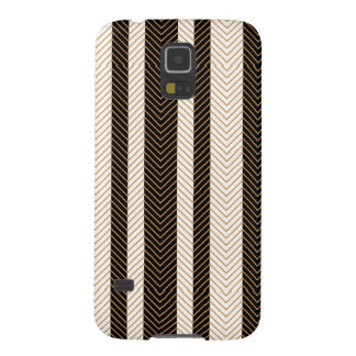 Black and White Herringbone Pattern Galaxy S5 Cases