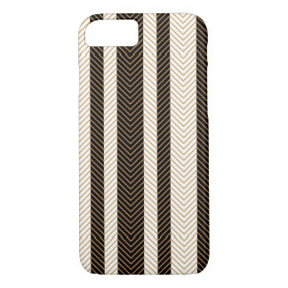 Black and White Herringbone Pattern iPhone 7 Case