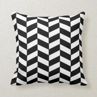 Black and White Herringbone Pillow