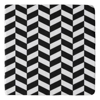 Black and White Herringbone Trivet