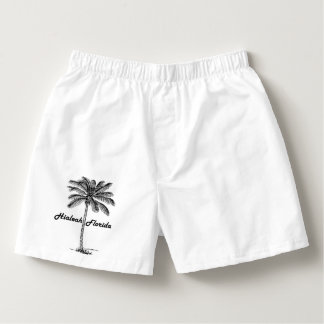 Black and White Hialeah & Palm design Boxers