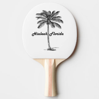 Black and White Hialeah & Palm design Ping-Pong Paddle