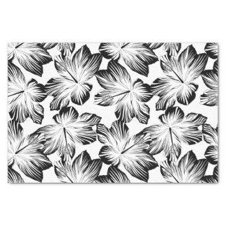 Black and white hibiscus tissue paper