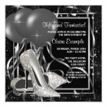 Black and White High Heels Womans Birthday Party