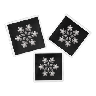 Black And White Holiday Snowflakes Perfume Tray