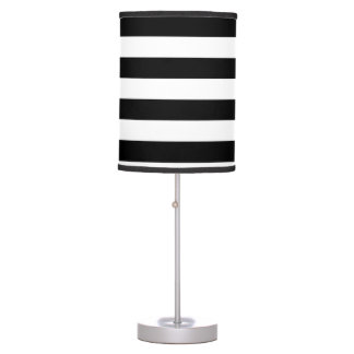 Black and White horizontal lines Table Lamp