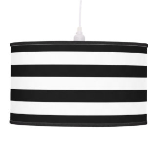 Black and white horizontal stripes pendant lamp