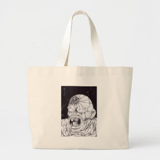Black And White Horror Art Canvas Bags