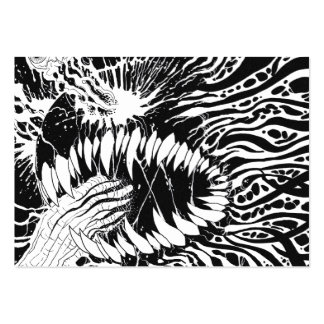 Black And White Horror Art Business Card Templates