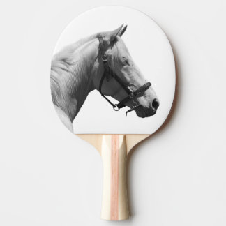 Black and white horse animal photo Ping-Pong paddle