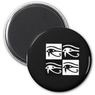 black and white Horus eyes Magnet