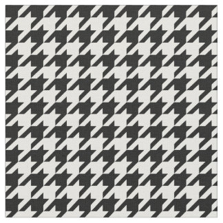 Black and White Houdstooth Pattern Fabric