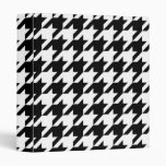 Black and White Houndstooth 3 Ring Binder