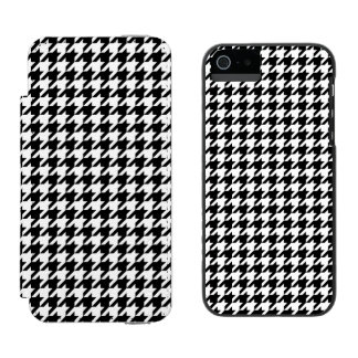 Black and White Houndstooth Incipio Watson™ iPhone 5 Wallet Case
