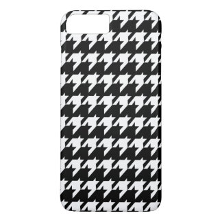 Black and white houndstooth iPhone 8 plus/7 plus case