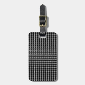 Black And White Houndstooth Pattern Bag Tag