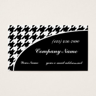 Black and White Houndstooth Pattern Business Card