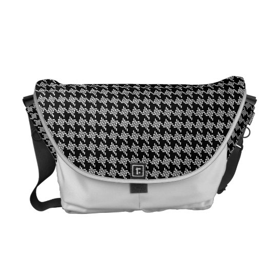 Black And White Houndstooth Pattern Commuter Bags