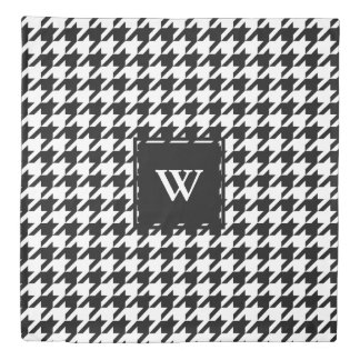 Black and White Houndstooth Pattern - Personalized Duvet Cover
