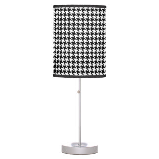 Black and White Houndstooth Pattern Table Lamps