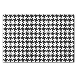 Black and White Houndstooth Pattern Tissue Paper
