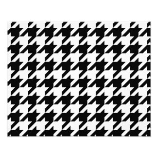 Black and White Houndstooth Photo Art