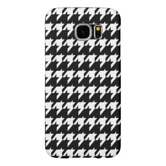 Black and white houndstooth samsung galaxy s6 cases