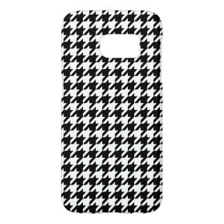 Black and White Houndstooth Samsung Galaxy S7 Case