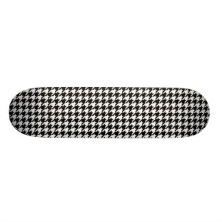 Black and White Houndstooth Skate Deck