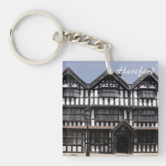 Black and White house in Hereford souvenir photo Keychain