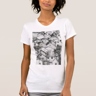 Black and White Houses Sketch Tee