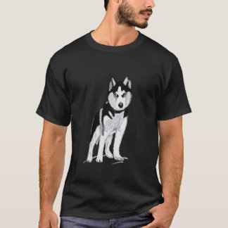 Black and White Husky T-Shirt