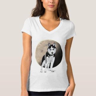 Black and White Husky T-Shirt