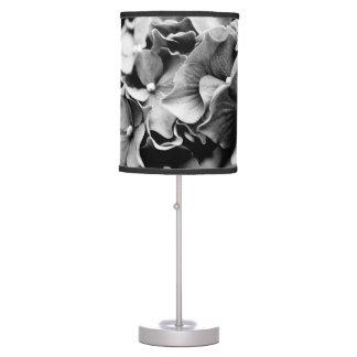 Black and White Hydrangea, Hortensia Flower Table Lamp