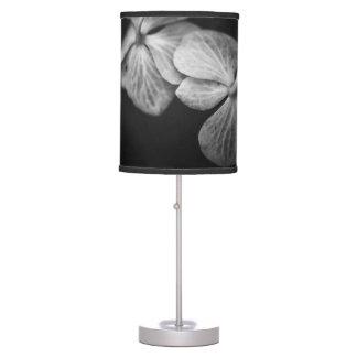 Black and White Hydrangea Lamp