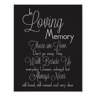 Black and White In Loving Memory Wedding Sign
