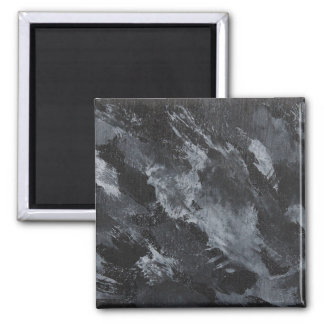 Black and White Ink on Black Magnet