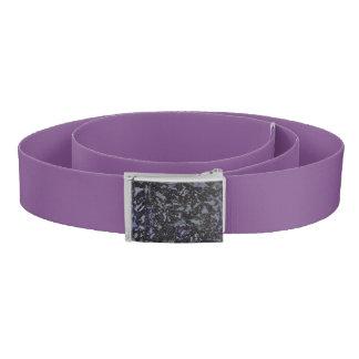 Black and White Ink on Purple Background Belt