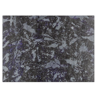 Black and White Ink on Purple Background Boards