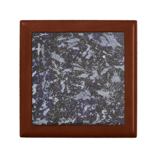 Black and White Ink on Purple Background Gift Box