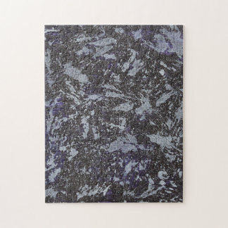 Black and White Ink on Purple Background Jigsaw Puzzle
