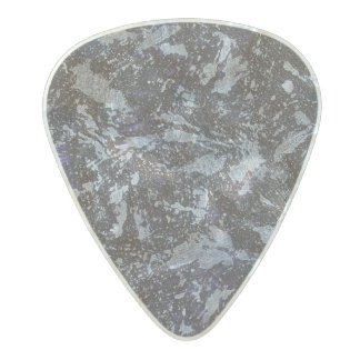Black and White Ink on Purple Background Pearl Celluloid Guitar Pick