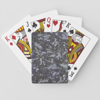 Black and White Ink on Purple Background Playing Cards