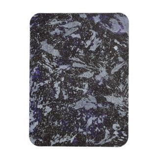 Black and White Ink on Purple Background Rectangular Photo Magnet