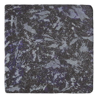 Black and White Ink on Purple Background Trivet