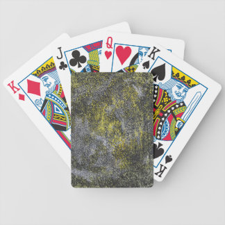 Black and White Ink on Yellow Background Bicycle Playing Cards
